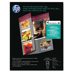 Hp C7020A Inkjet Tri-Fold Brochure Paper, 98 Brightness, 48Lb, 8-1/2 X 11, White, 100/Pack