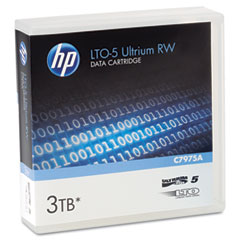 "Hp C7975A 1/2"" Ultrium Lto-5 Cartridge, 2775Ft, 1.5Tb Native/3Tb Compressed Capacity"