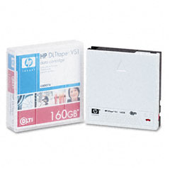 "Hewlett-Packard HEWC8007A 1/2"" VS1 Cartridge, 1828ft, 160GB Native/320GB Compressed Capacity"