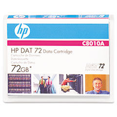 "Hp C8010A 1/8"" Dat 72 Cartridge, 170M, 36Gb Native/72Gb Compressed Capacity"