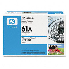 Hewlett-Packard HEWC8061A C8061A (HP 61A) Toner, 6000 Page-Yield, Black