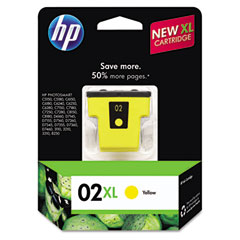 C8732WN (HP 02XL) High-Yield Ink, 750 Page-Yield, Yellow