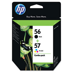 C9321FN (HP 56/57) Ink, 520 Page-Yield, 2/Pack, Black; Tri-Color