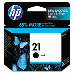 Hewlett-Packard HEWC9351AN C9351AN (HP 21) Ink, 190 Page-Yield, Black