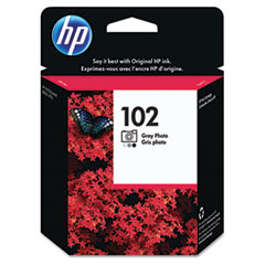 Hewlett-Packard HEWC9360AN C9360AN (HP 102) Ink, 120 Page-Yield, Photo Gray