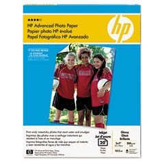 Hp CG812AND Advanced Photo Paper, 56 Lbs., Glossy, 5 X 7, 20 Sheets/Pack