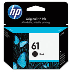 CH561WN (HP 61) Ink, 190 Page-Yield, Black