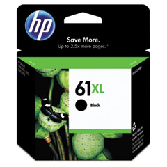 CH563WN (HP61XL) High-Yield Ink, 480 Page-Yield, Black