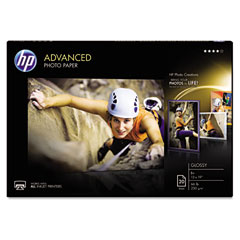 Hp - advanced photo paper, 66 lbs., glossy, 13 x 19, 20 sheets/pack, sold as 1 pk
