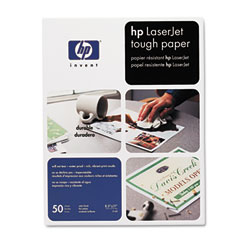 Hewlett-Packard HEWQ1298A LaserJet Tough Paper, 8-1/2 x 11, White, 50/Pack