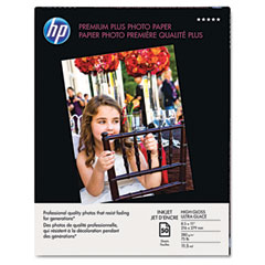 Hewlett-Packard HEWQ1785A Premium Plus Photo Paper, 75 lbs., High-Gloss, 8-1/2 x 11, 50 Sheets/Pack