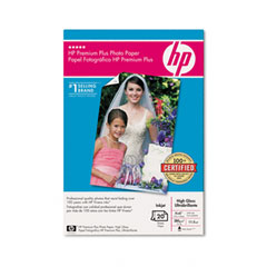 Hewlett-Packard HEWQ1977A Premium Plus Photo Paper, 75 lbs., High-Gloss, 4 x 6, 20 Sheets/Pack