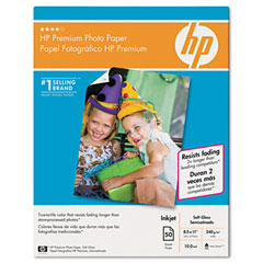 Hp Q1994A Premium Photo Paper, 64 Lbs., Matte, 8-1/2 X 11, 50 Sheets/Pack