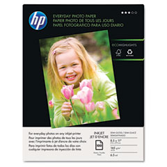 Hp Q2509AND Everyday Photo Paper, Glossy, 8-1/2 X 11, 100 Sheets/Pack