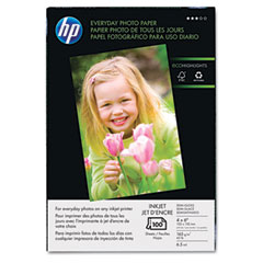Hp Q5440AND Everyday Photo Paper, Glossy, 4 X 6, 100 Sheets/Pack