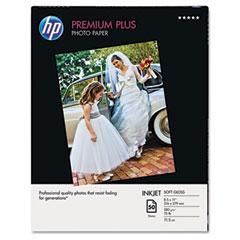 Hewlett-Packard HEWQ5450A Premium Plus Photo Paper, 75 lbs., Soft-Gloss, 8-1/2 x 11, 50 Sheets/Pack