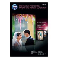 Hewlett-Packard HEWQ5495A Premium Plus Photo Paper, 75 lbs., High-Gloss, 11 x 17, 25 Sheets/Pack