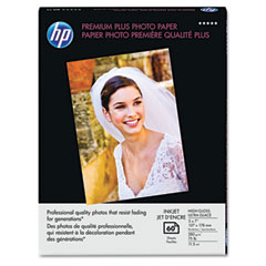 Hewlett-Packard HEWQ6566A Premium Plus Photo Paper, 75 lbs., High-Gloss, 5 x 7, 60 Sheets/Pack