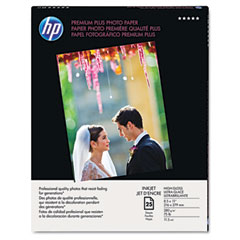 Hewlett-Packard HEWQ6568A Premium Plus Photo Paper, 75 lbs., High-Gloss, 8-1/2 x 11, 25 Sheets/Pack