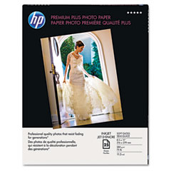 Hewlett-Packard HEWQ6569A Premium Plus Photo Paper, 75 lbs., Soft-Gloss, 8-1/2 x 11, 25 Sheets/Pack