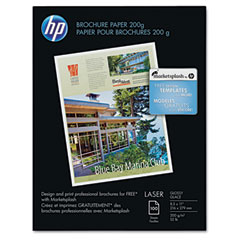 Hp Q6608A Color Laser Photo Paper, 52 Lbs., Glossy, 8-1/2 X 11, 100 Sheets/Pack