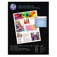 Hp Q6611A Color Laser Brochure Paper, 97 Brightness, 44Lb, 8-1/2 X 11, White, 150 Shts/Pk