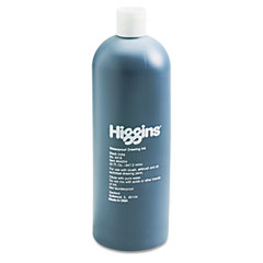 Higgins - higgins waterproof india ink for art/technical pens, black, 32 oz bottle, sold as 1 ea