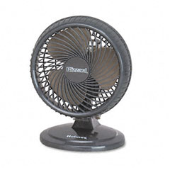 "Holmes HAOF87BLZ-UC Lil' Blizzard 7"" Two-Speed Oscillating Personal Table Fan, Plastic, Black"