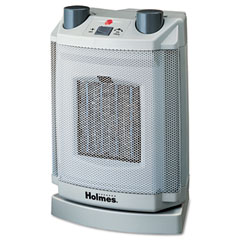 Holmes HCH4077-UM Oscillating Ceramic Heater, 8 X 6-3/4 X 11, Light Cold Gray