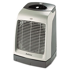 Holmes HFH5606-UM One-Touch Oscillating Heater/Fan, 9-1/8W X 9-5/8D X 13-1/2H, Gray