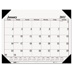 House of doolittle - workstation-size one-color monthly desk pad calendar, 18-1/2 x 13, sold as 1 ea
