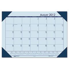 House of doolittle - ecotones academic desk pad calendar, 18-1/2w x 13d, blue sheets/blue corners, sold as 1 ea