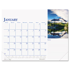 House Of Doolittle 0144 Earthscapes Photographic Monthly Desk Pad Calendar, 18-1/2 X 13, 2012
