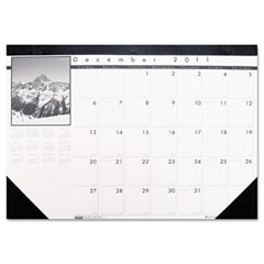 House Of Doolittle 1226 Black-And-White Photo Monthly Desk Pad Calendar, 18-1/2 X 13, 2011-2012