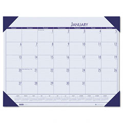 House Of Doolittle 124-40 Ecotones Ocean Blue Monthly Desk Pad Calendar, 22 X 17, 2012