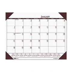 House Of Doolittle 124-41 Ecotones Moonlight Cream Monthly Desk Pad Calendar, 22 X 17, 2012