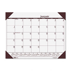 House Of Doolittle 124-42 Ecotones Mountain Gray Monthly Desk Pad Calendar, 22 X 17, 2012