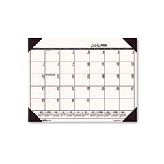 House Of Doolittle 124-43 Ecotones Desert Tan Monthly Desk Pad Calendar, 22 X 17, 2012