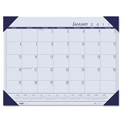 House Of Doolittle 124640 Ecotones Ocean Blue Monthly Desk Pad Calendar, 18-1/2 X 13, 2012