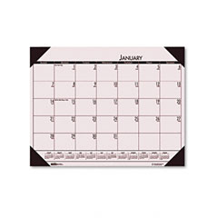 House Of Doolittle 124-70 Ecotones Sunrise Rose Monthly Desk Pad Calendar, 22 X 17, 2012