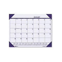 House Of Doolittle 124-73 Ecotones Sunset Orchid Monthly Desk Pad Calendar, 22 X 17, 2012