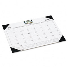 House Of Doolittle 125-02 Economy 14-Month Academic Desk Pad Calendar, 22 X 17, 2012-2013