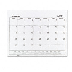 House Of Doolittle 126 One-Color Dated Monthly Desk Pad Calendar Refill, 22W X 17H, 2012