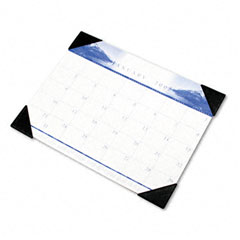 House Of Doolittle 140-HD One-Color Photo Monthly Desk Pad Calendar, 22 X 17, 2012