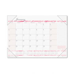 House Of Doolittle 1466 Breast Cancer Awareness Monthly Desk Pad Calendar, 18-1/2 X 13, 2012