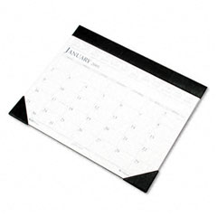 House Of Doolittle 150-451-01 Two-Color Refillable Monthly Desk Pad Calendar, 22 X 17, 2012