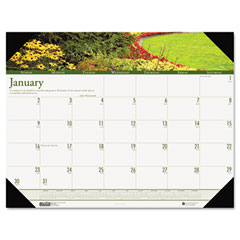 House of doolittle - gardens of the world photographic monthly desk pad calendar, 22 x 17, sold as 1 ea