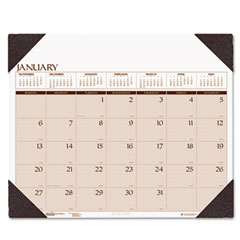 House Of Doolittle 180-HD Executive Monthly Desk Pad Calendar, 24 X 19, Blue, 2012
