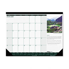 House Of Doolittle 196 Golf Courses Photographic Monthly Desk Pad Calendar, 22 X 17, 2012