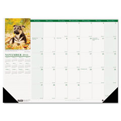 House Of Doolittle 1996 Puppies Photographic Monthly Desk Pad Calendar, 18-1/2 X 13, 2012